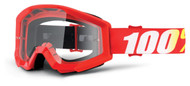 NEW 2018 100% Strata Goggles - Furnace - Clear Lens