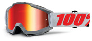 New 2018 100% Accuri Goggles - Mirror Solberg - Mirror Red Lens