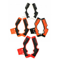 Frame Guards KTM 65, Husqvarna TC65, GASGAS MC 65 | Orange and Black, White and Black, Black and Orange, Black and Red