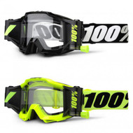 100% Accuri Forecast Goggles Fluorescent Yellow, Tornado Black