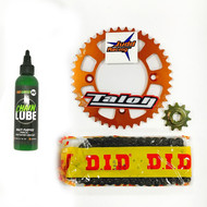 Sprocket Kit 50SX 2002-2008 11T, 42T, 415STD, Chain + Chainlube ORANGE (SPK012)