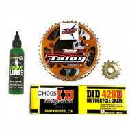 Sprocket Kit 65SX 2009> TC65 2017> Chain + Chainlube ORANGE