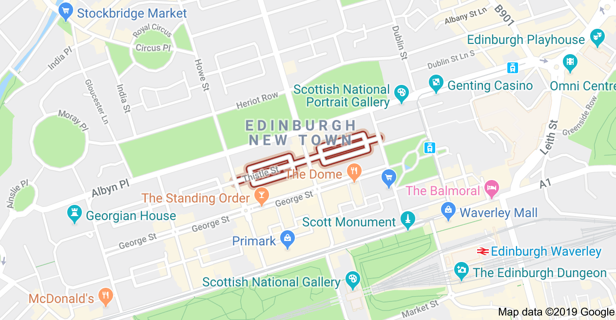 One Day Walking Map Of Edinburgh Independent Boutique Shops