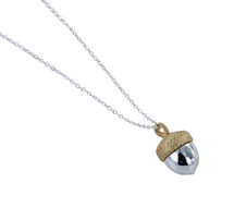 Reeves_and_Reeves_sterling_silver_gold_plating_acorn_necklace