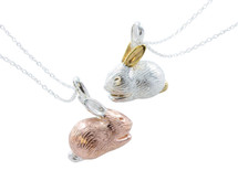 Reeves & Reeves - Sterling Silver and Gold Plated Benjamin Bunny Necklace