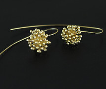 Gold Plated Sterling Silver Elderflower Earrings