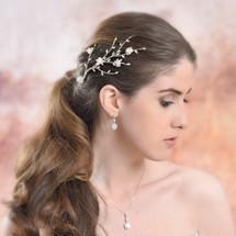 Bonnie Cherry Blossom Hair Vine Modelling Shoot
