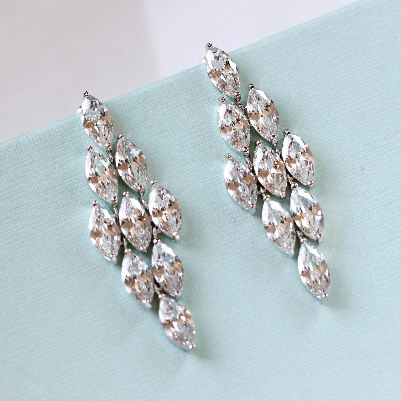 03e8fe534ceaff Zelma Statement Crystal Earrings | Bridal Jewellery by Lily Luna ...