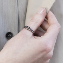 Aurum_Iceland_oxidised_sterling_silver_tie_the_knot_ring_rope_handmade_BOND