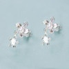 Tina Kotsoni - Sterling Silver Flower Stud Earrings