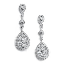 'Leela' Statement Art Deco Drop Earrings