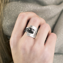 Tina_Kotsoni_black_and_silver_contrasting_ring_handmade_Greek_Greece