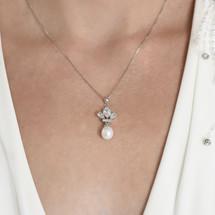 'Alison' Art Deco Fan Pearl Set