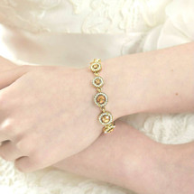 Sienna Gold Plated Art Deco Bracelet