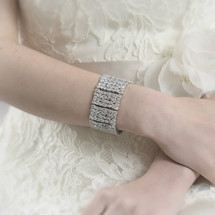 Kayla Statement Bridal Art Deco Chunky Bracelet