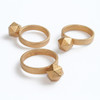 'GEOM' Gold Plated Mini Ring