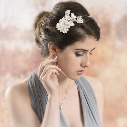 Ellis Blush Pink Floral Side Headband