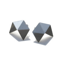 'GEOM' Small Sterling Silver Stud Earrings
