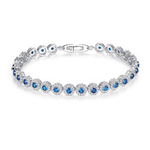 Wallis Something Blue Circular Bridal Bracelet
