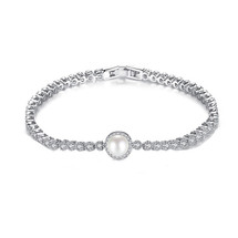 Val Pearl and Diamante Bridal Bracelet