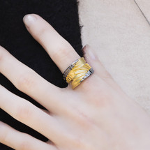 Shi_Kou_Er_Jiong_ring_handmade_wings_winged_gold_plating_sterling_silver