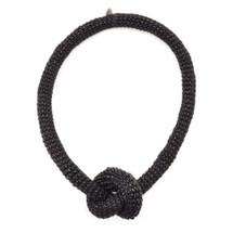 tzuri_gueta_necklace_handmade_knot_black_silicone