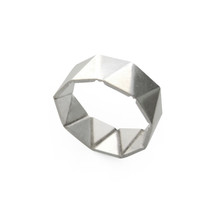 'GEOM' Sterling Silver Ring