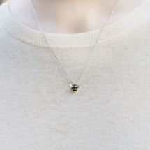 Shi_Kou_Er_Jiong_handmade_bumblebee_necklace_sterling_silver_gold_plating