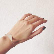 Triangulated Sterling Silver Bracelet
