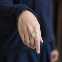Botanic_collection_sterling_silver_gold_plating_cherry_blossom_bowl_ring_handmade