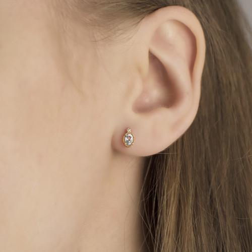 Hakuna_Japanese_handmade_jewellery_earrings_gold_plating_studs_cute_oval