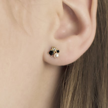 earrings_studs_black_onyx_pearl_diamante_gold_plated_sterling_silver_Hakuna_Japan