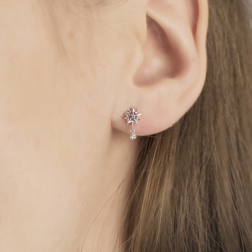 Hakuna_Japan_sterling_silver_star_small_delicate_earrings_studs