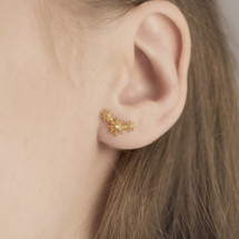 earrings_Hakuna_Japanese_studs_trinity_stars_gold_plated_sterling_silver