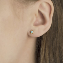 earrings_studs_fashion_jewellery_Hakuna_Australian_opal_gold_plating_sterling_silver_small