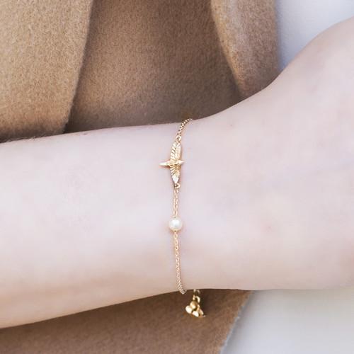 Shi_Kou_Er_Jiong_handmade_jewellery_bracelet_sterling_silver_gold_plating_bird_freshwater_pearl