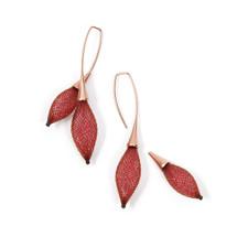 Boucles_Croisées_Bourgeons_Burgundy_Red_Twist_Drop_Earrings