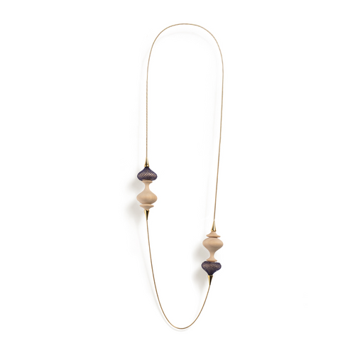 Sautoir Toopie Navy Blue Long Pendant Necklace