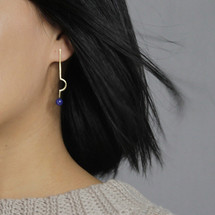 Botanic_Garden_collection_earrings_geometric_statement_thin_long_gold_plating_lapis_stones