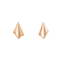 Alice_Barnes_sterling_silver_gold_vermeil_pleated_mini_studs_earrings