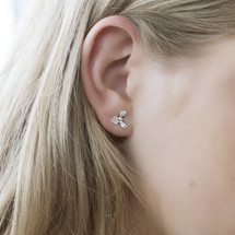 Catherine_Weitzman_handmade_jewellery_orchid_recycled_sterling_silver_studs_earrings_cute