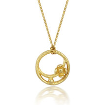 18ct Flower Circle Necklace at Lily Luna