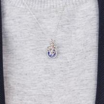 Catherine_Weitzman_necklace_handmade_snake_serpent_recycled_silver_dark_blue_crystal_shaker