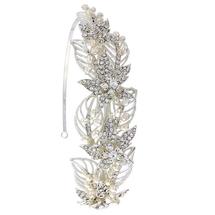 'Viola' Leafy Wreath Side Headband