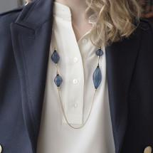 VLUM_handmade_necklace_nylon_threading_gold_plating_statement_chunky_purple_blue