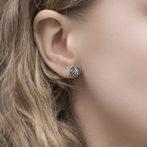 Tina_Kotsoni_oxidised_sterling_silver_studs_earrings_handmade_textured