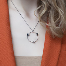 Tina_Kotsoni_necklace_oxidised_sterling_silver_circular_handmade_Greece