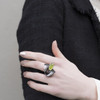 Tina_Kotsoni_handmade_jewellery_oxidised_silver_peridot_green_stone_unique_different_eye_catching_ring