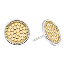 Anna_Beck_earrings_studs_handmade_gold_plated_sterling_silver_Bali_circular_beaded_spotted_dotted