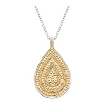 Anna_Beck_handmade_teardrop_necklace_statement_large_gold_plating_sterling_silver_beading_reversible